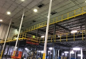 racking mezzanines for equipment