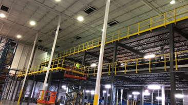 racking mezzanines for equipment